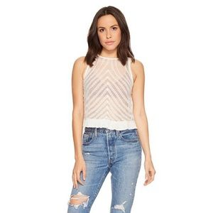 Free People She's a Doll Sheer Crop Top
